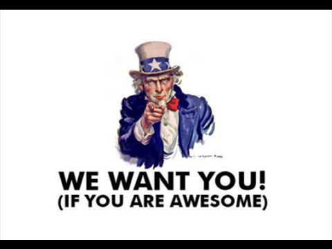 We are looking for YOU !